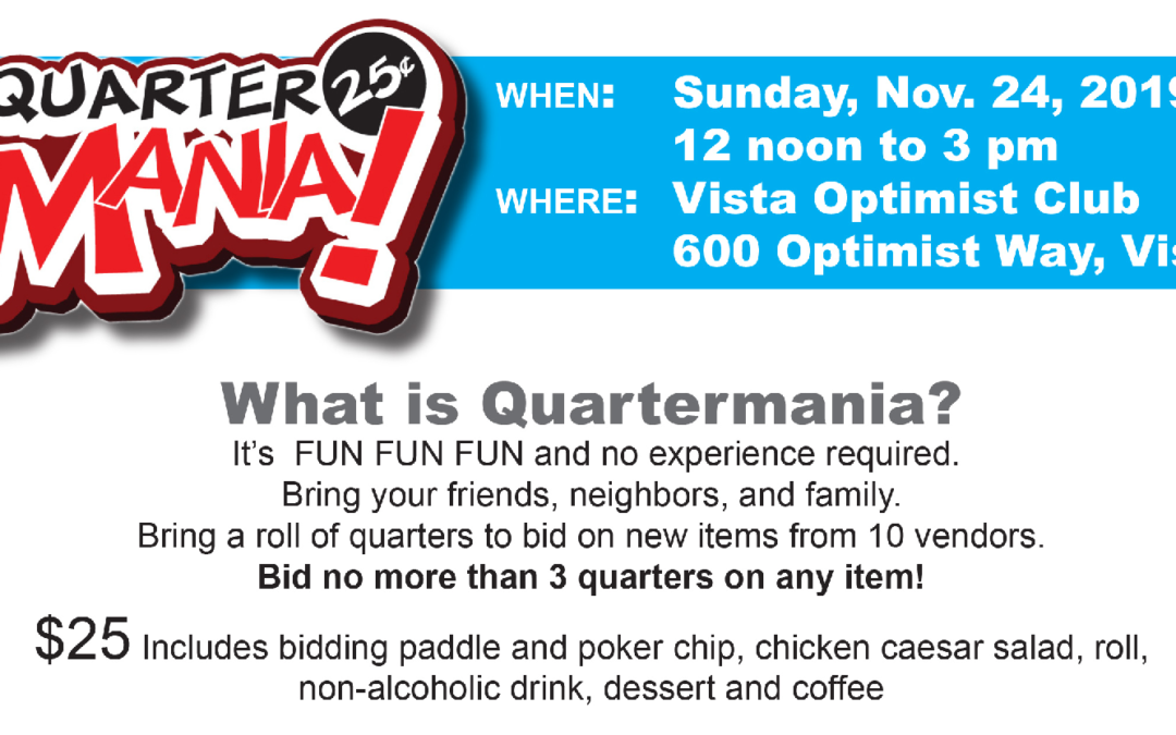 Quartermania Fundraiser in November