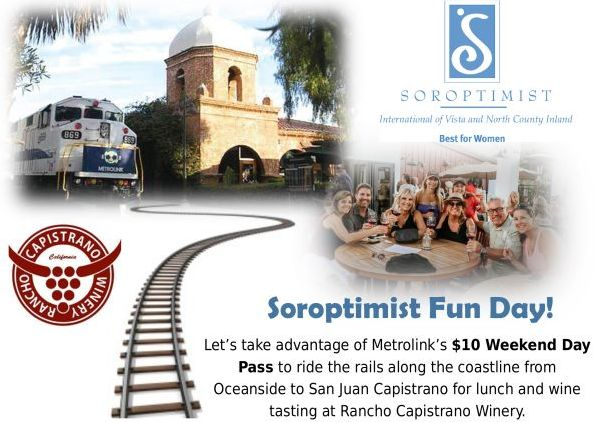 Soroptimist Train Ride and Wine Tasting