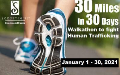 Vista Soroptimists to Host Walkathon to Fight Human Trafficking